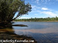 The sandbank on the Fitzroy River