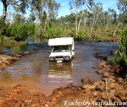 River crossing on a trip through the Kimberley.