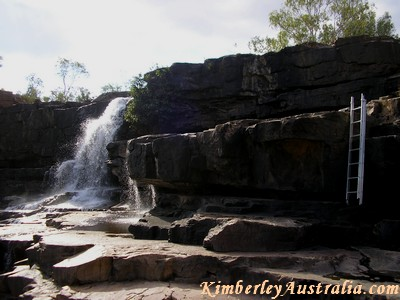 The waterfall at Wunnumurra Gorge.