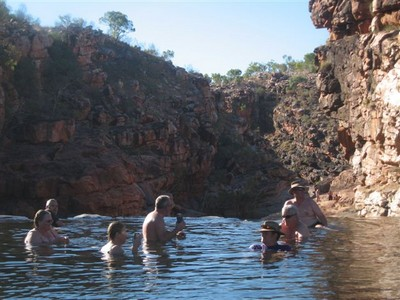 Living it up at Bell Gorge