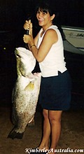 Leyla's first big Barramundi