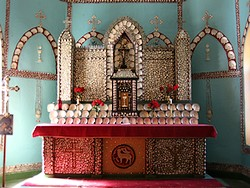 Mother of pearl altar at Beagle Bay