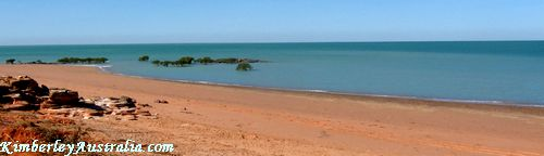 Beach at Broome Bird Observatory