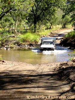 Creek crossing on Bungle Bungles National Park road