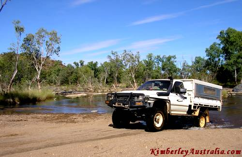 Creek crossing outside Purnululu National Park