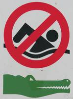 Kimberley crocodile warning sign