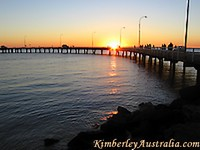 Sunset at the Derby jetty