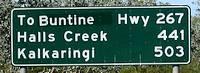Duncan Highway Sign