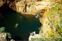 Swimming and relaxing above Harry's Hole