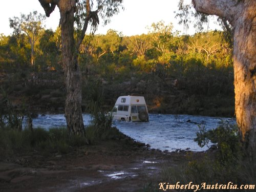 Crossing the King Edward River