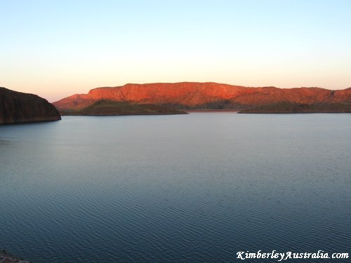 A sunset over Lake Argyle