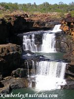 The second and third tier of the Mitchell Falls.