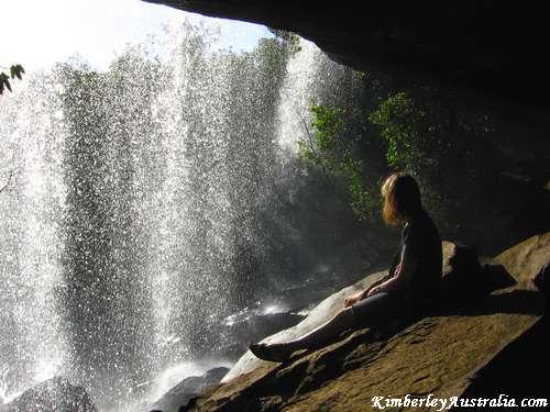 The cave underneath Little Mertens Falls