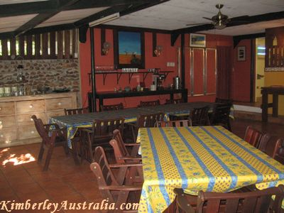 The dining room at Eagle Rock restaurant.