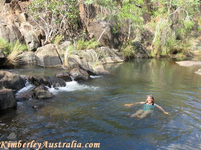 Swimming at Mount Matthew Gorge