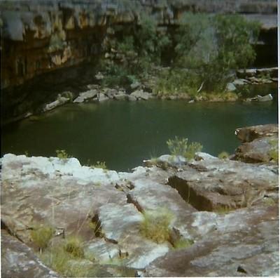 Mitchell Falls... no water running at all