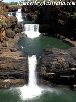 The Mitchell Falls in all their glory