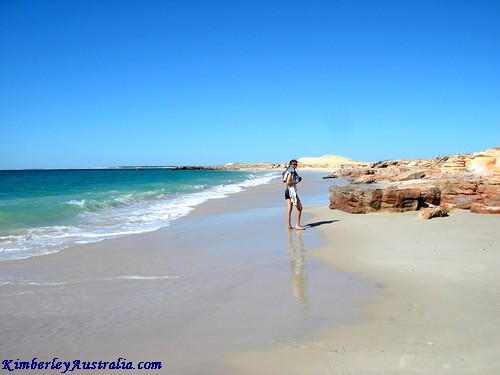 Swimming at Cape Leveque Beach