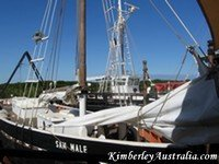 Restored pearl lugger, an attraction in Broome