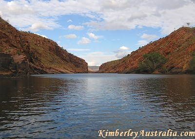 The site of the proposed dam at Dimond Gorge, Fitzroy River