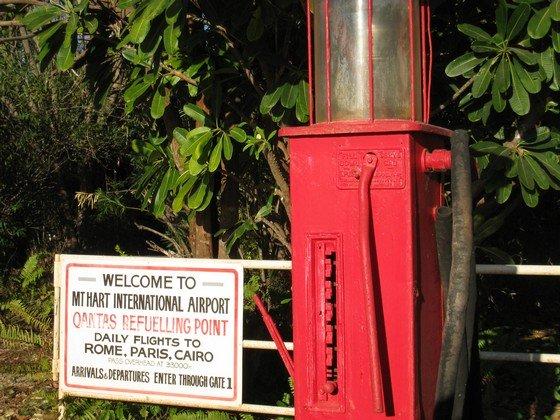 Sign at Mt. Hart airstrip