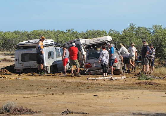 Well and truly bogged