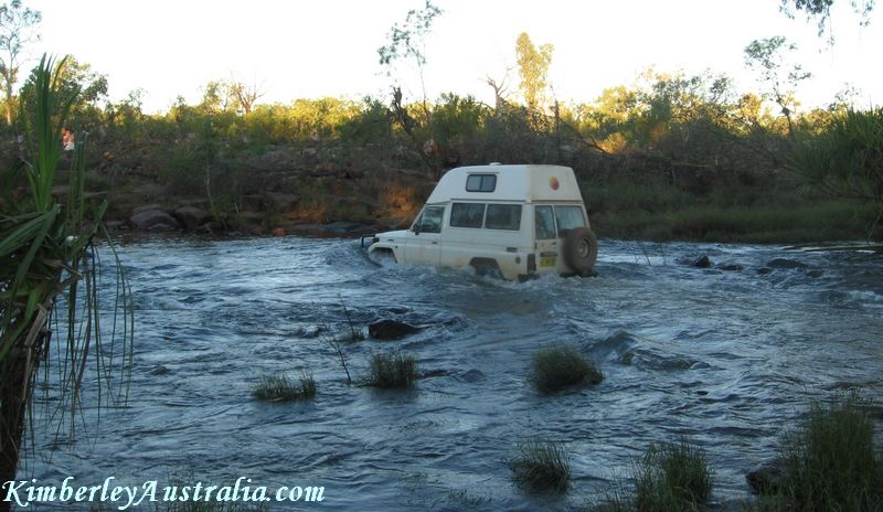 River crossing on the Gibb River Road