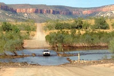 Crossing the Pentecost River on the Gibb River Road