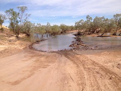 The Durack River crossing early in the season