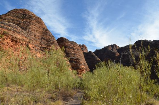 Walking towards some Bungles domes