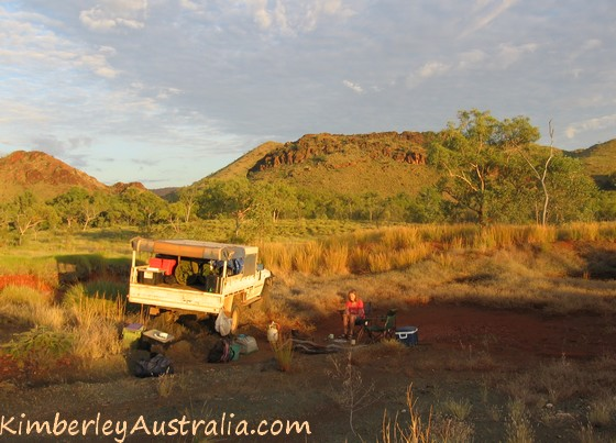 Camped outside Purnululu