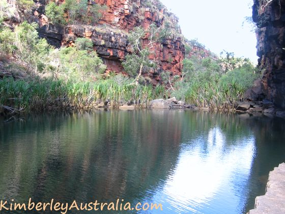 The second pool of Grevillea Gorge, also large and deep.