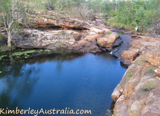 Standing above Lillie Pool