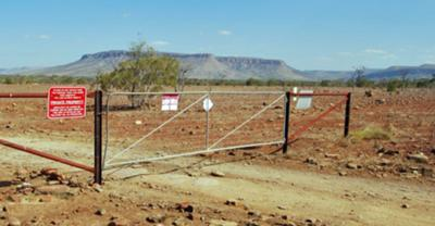 Cockburn Ranges with gate