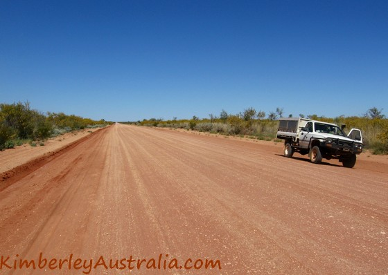 The driving distances in the Kimberley are vast.