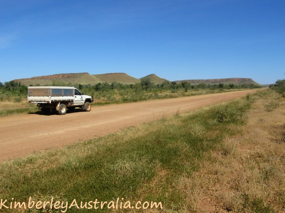 Driving towards Halls Creek in the Kimberley