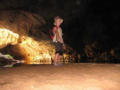 Caveman at Tunnel Creek
