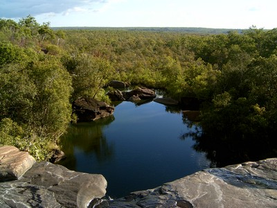 View from the top of Little Mertens Falls