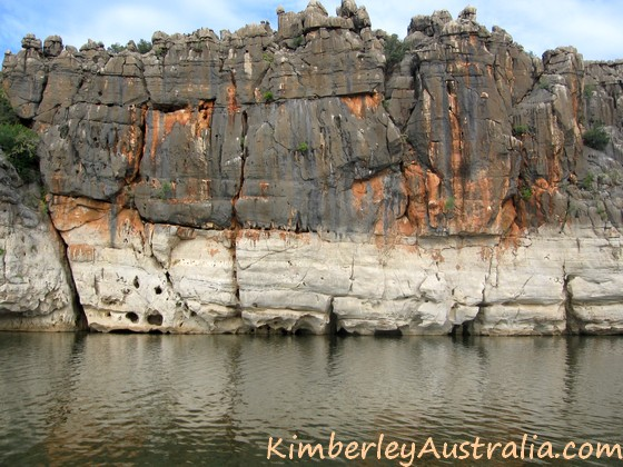 The bleached walls of Geikie Gorge National Park