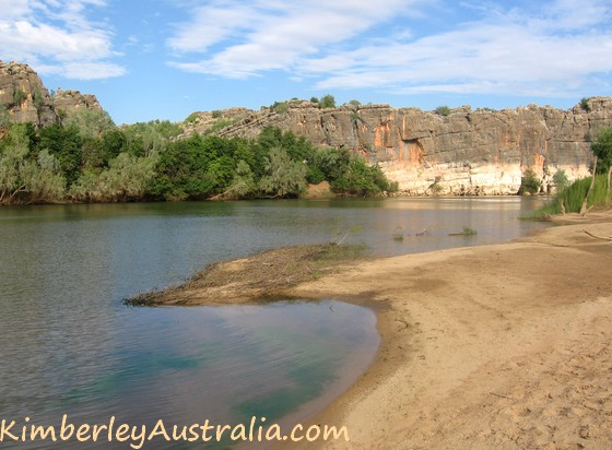 Walking at Geikie Gorge