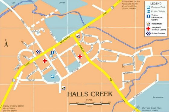 Halls Creek Map