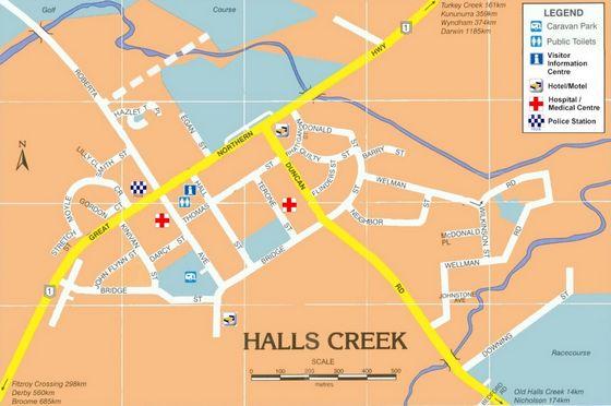 Halls Creek Map