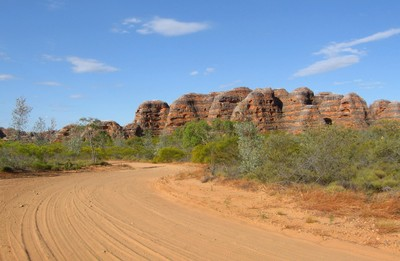 Nearly there... The long way into the Bungles
