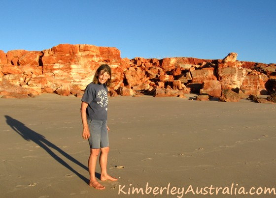 Alone at Kooljaman Resort, Cape Leveque