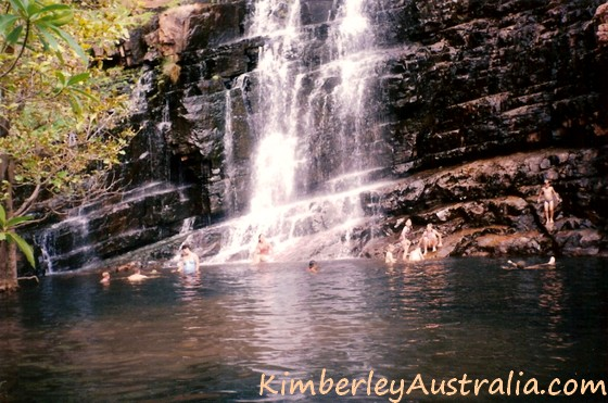 Waterfall on Lake Kununurra