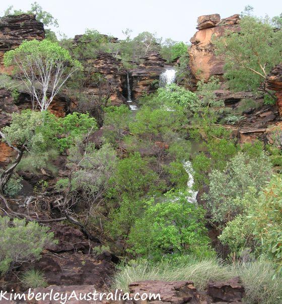 Typical Kununurra country during the wet season: waterfalls everywhere!