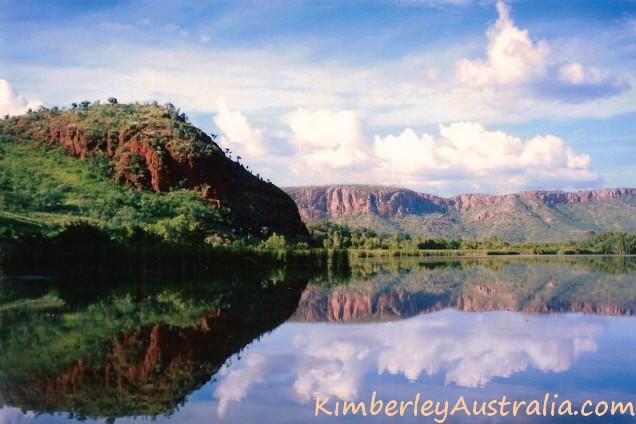Ranges reflecting in Kununrra's Ord River