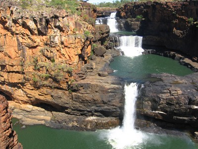 The Mitchell Falls at the end of May