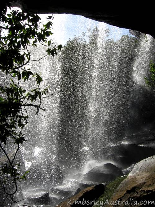 Waterfall from underneath