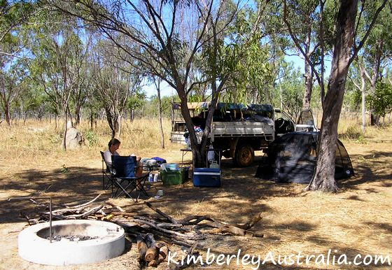 Camping on the Mitchell Plateau